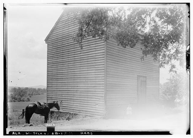 16.  Historic American Buildings Survey Alex Bush, Photographer, May 9, 1935 OLD SMOKE HOUSE, S. OF HOUSE ABOUT 30 FT., FACES N. - Mount Ida, County Road 11, Sylacauga, Talladega County, AL