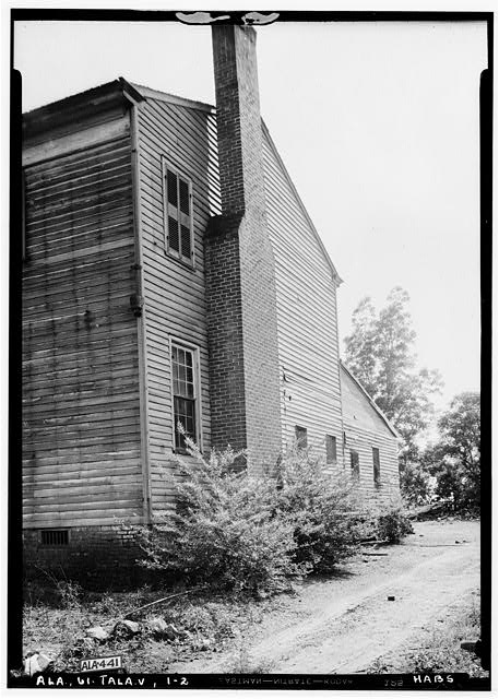 2.  Historic American Buildings Survey Alex Bush, Photographer, May 8, 1935 REAR (N) AND PART OF EAST SIDE - Thornhill, State Road 21, Talladega, Talladega County, AL
