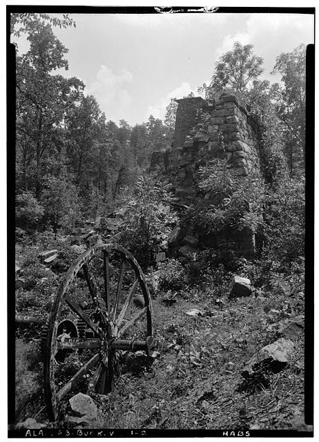 2.  Historic American Buildings Survey Alex Bush, Photographer, August 15, 1936 LOOKING SOUTH AT FURNACE - Tannehill Furnace (Ruins), Mud Creek vicinity, Bucksville, Tuscaloosa County, AL