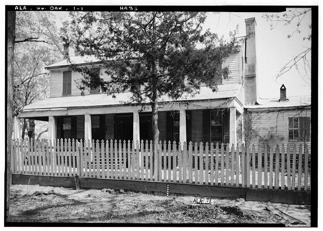 1.  Historic American Buildings Survey Alex Bush, Photographer, March 24, 1937 FRONT (NORTH) ELEVATION - Ramsey-Jones-Bonner House, State Route 10, Oak Hill, Wilcox County, AL