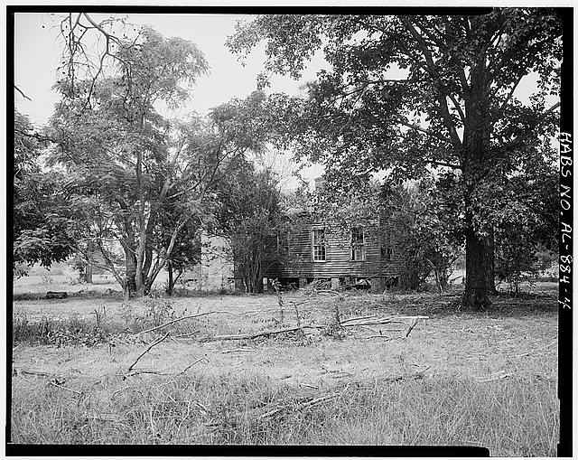4.  Context view, southwest side - Josiah Haigler Plantation House, County Highway 37 North of U.S. Highway 80, Burkville, Lowndes County, AL