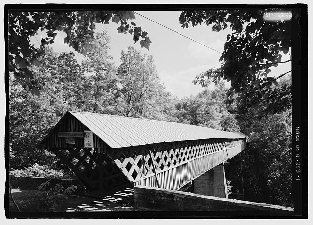 Perspective view - Horton Mill Bridge, Spanning Little Warrior River, Oneonta, Blount County, AL
