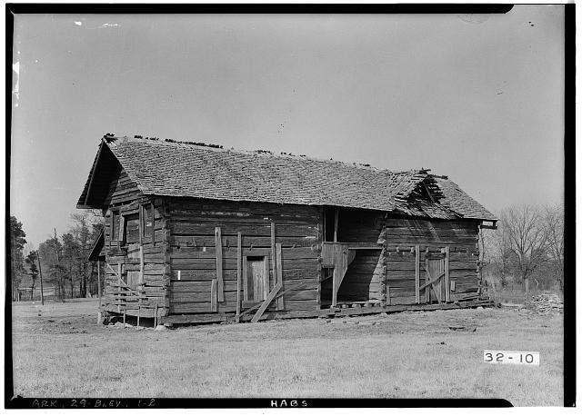 2.  Historic American Buildings Survey Prather Reynolds Photographer Feb. 13 1934 VIEW FROM SOUTHWEST - Log Cabin Tavern, State Highway, Blevins, Hempstead County, AR
