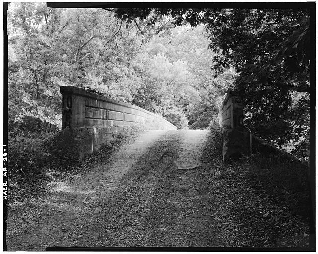1.  GENERAL VIEW OF CONCRETE DECK ARCH BRIDGE, LOOKING NORTHEAST - Illinois River Bridge, Spanning Illinois River at Benton County Road 3, Siloam Springs, Benton County, AR