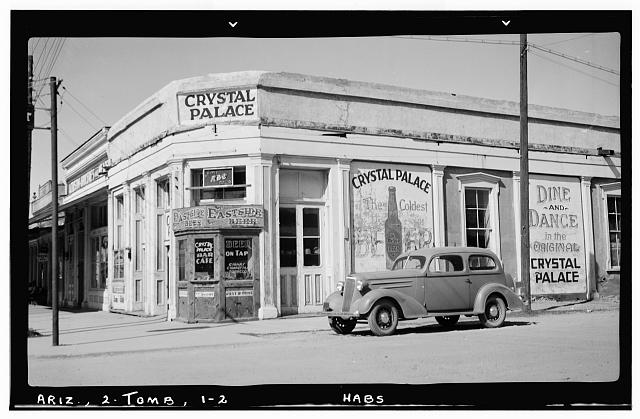 2.  Historic American Buildings Survey Frederick D. Nichols, Photographer November 1937 GENERAL VIEW - Crystal Palace Saloon, Allen & Fifth Streets, Tombstone, Cochise County, AZ