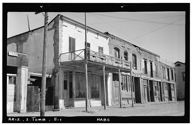 1.  Historic American Buildings Survey Frederick D. Nichols, Photographer November 1937 STREET FACADE - Old City Hall, Fremont Street, Tombstone, Cochise County, AZ