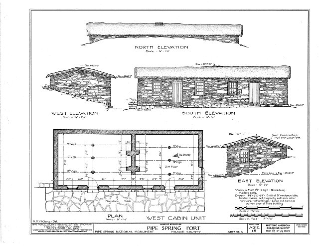 HABS ARIZ,8-MOC.V,1- (sheet 13 of 14) - Pipe Spring Fort, Moccasin, Mohave County, AZ