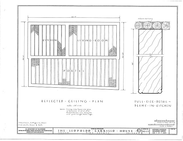 HABS ARIZ,10-TUCSO,1- (sheet 5 of 5) - Leopoldo Carrillo House, 1005 Mission Avenue, Tucson, Pima County, AZ