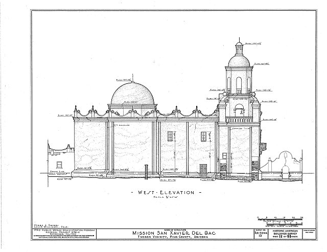 HABS ARIZ,10-TUCSO.V,3- (sheet 11 of 41) - San Xavier del Bac Mission, Mission Road, Tucson, Pima County, AZ