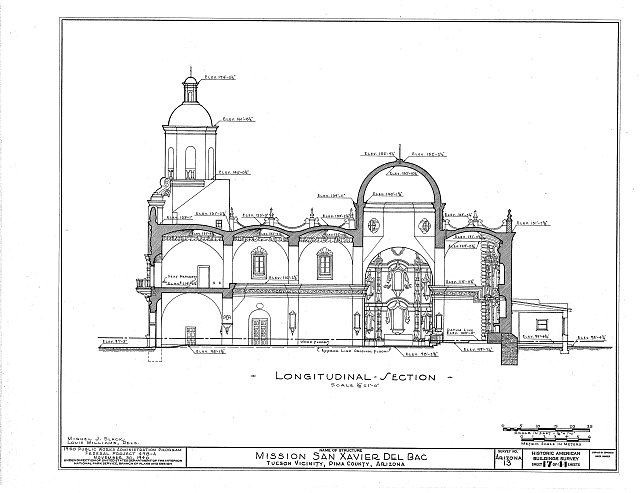 HABS ARIZ,10-TUCSO.V,3- (sheet 17 of 41) - San Xavier del Bac Mission, Mission Road, Tucson, Pima County, AZ