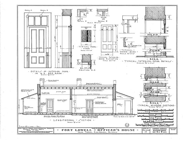HABS ARIZ,10-TUCSO.V,2- (sheet 4 of 7) - Fort Lowell, Fort Lowell Road Vicinity, Tucson, Pima County, AZ