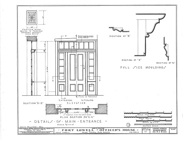 HABS ARIZ,10-TUCSO.V,2- (sheet 5 of 7) - Fort Lowell, Fort Lowell Road Vicinity, Tucson, Pima County, AZ