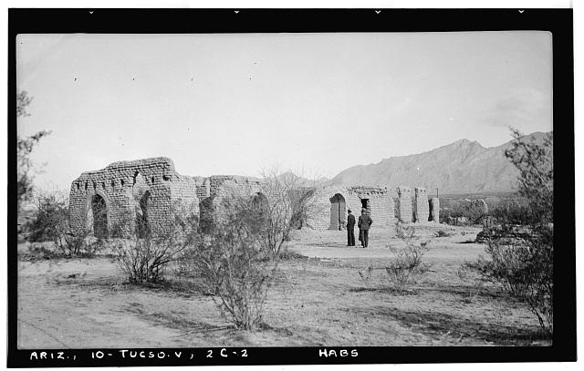 2.  Historic American Buildings Survey John P. O'Neill, Photographer March 1937 GENERAL VIEW LOOKING NORTHWEST - Fort Lowell, Post Hospital (Ruins), Fort Lowell Road Vicinity, Tucson, Pima County, AZ