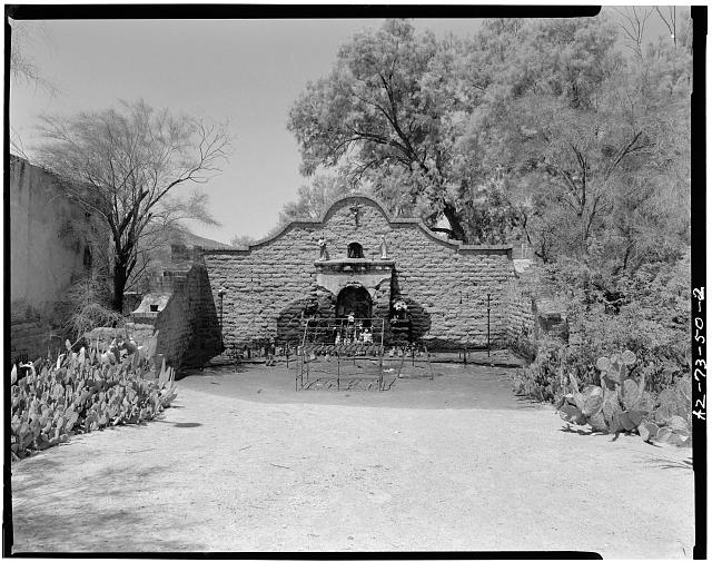 1.  GENERAL VIEW LOOKING WEST, WEST SIDE OF SOUTH MAIN AVENUE. - Wishing Shrine, South Main Avenue, South Main Avenue, Tucson, Pima County, AZ