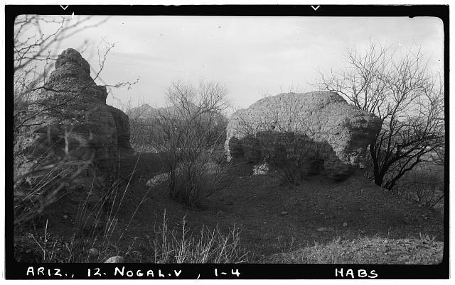 4.  Historic American Buildings Survey Delos H. Smith, photographer February 1940 LOOKING WEST - San Gabriel de Guevavi, Santa Cruz River, Nogales, Santa Cruz County, AZ