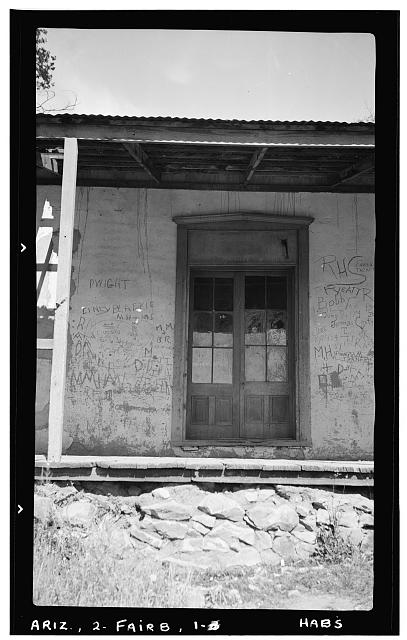 3.  Historic American Buildings Survey Frederick D. Nichols, Photographer November 1937 DETAIL OF DOOR - Fairbank Hotel, Fairbank (historical), Cochise County, AZ
