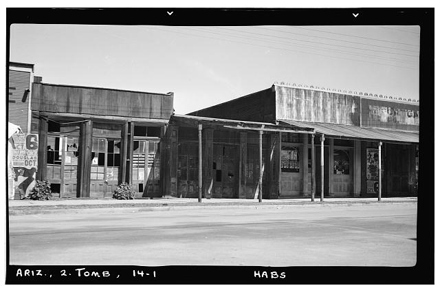 1.  Historic American Buildings Survey Frederick D. Nichols, Photographer November 1937 STREET VIEW LOOKING NORTH - Allen Street (Commercial Building), Tombstone, Cochise County, AZ