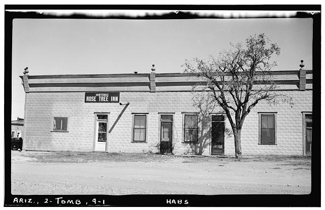 1.  Historic American Buildings Survey Frederick D. Nichols, Photographer November 1937 VIEW LOOKING NORTH - Rose Tree Inn, Toughnut & Fourth Streets, Tombstone, Cochise County, AZ