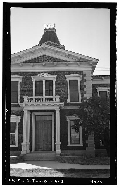 2.  Historic American Buildings Survey Frederick D. Nichols, Photographer November 1937 DETAIL OF ENTRANCE - Cochise County Courthouse, Toughnut & Third Streets, Tombstone, Cochise County, AZ