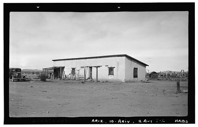 2.  Historic American Buildings Survey Frederick D. Nichols, Photographer December 1937. BUNKHOUSE - Arivaca Ranch, Arivaca, Pima County, AZ