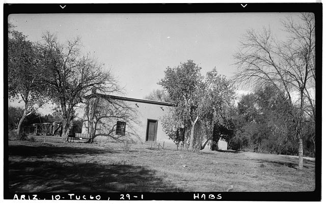 1.  Historic American Buildings Survey Frederick A. Eastman, Photographer December 1937 GENERAL VIEW - Adobe House, Paseo Redondo, Tucson, Pima County, AZ