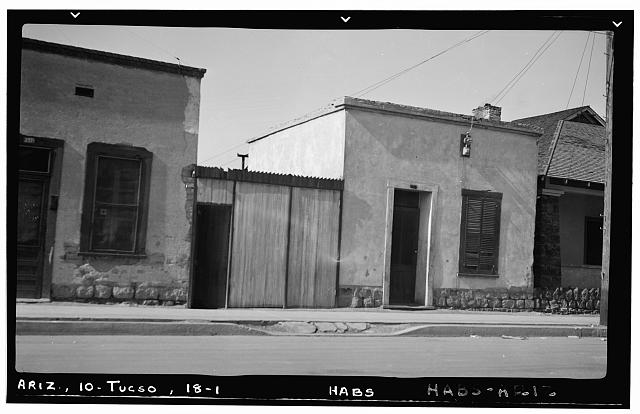 1.  Historic American Buildings Survey F. D. Nichols, Photographer January 1938 GENERAL VIEW LOOKING WEST - 299 North Court Street (House), Tucson, Pima County, AZ