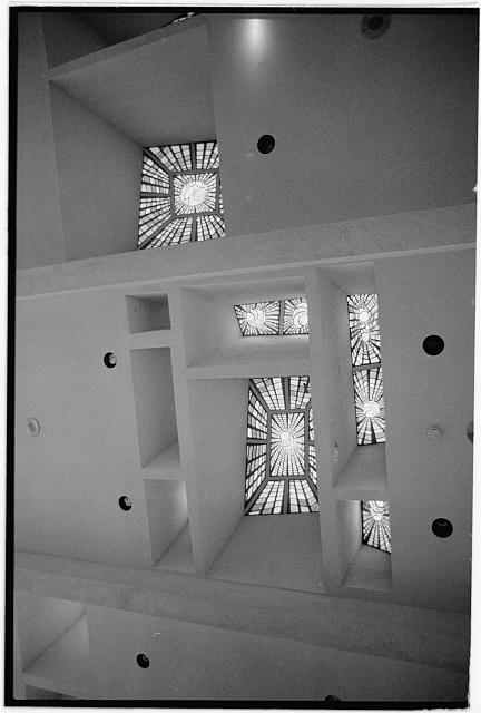 8.  Interior,stained glass ceiling - City Hall, Civil Center, Scottsdale, Maricopa County, AZ