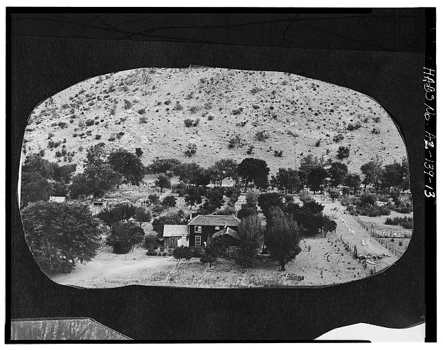 13.  Photocopy of negative (original in possession of WACC), photographer unknown, c.1907 MAIN HOUSE - Faraway Ranch, Willcox, Cochise County, AZ