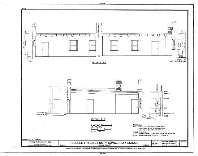 HABS ARIZ,1-GANA,1I- (sheet 4 of 6) - Hubbell Trading Post, Navajo Day School, Ganado, Apache County, AZ