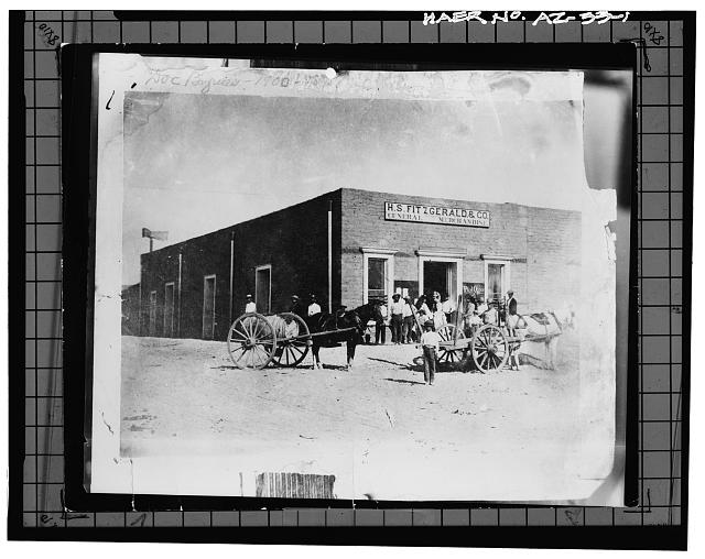 1.  Photocopy of photograph (original print located at Arizona Historical Society, Yuma, Arizona) Photographer unknown, circa 1890s. HORSE-DRAWN CART USED FOR DELIVERING WATER. - Yuma Main Street Water Treatment Plant, Jones Street at foot of Main Street, Yuma, Yuma County, AZ