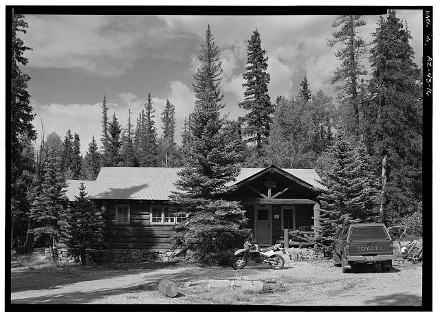 16.  FEE COLLECTOR'S HOUSE, FACING N. - North Entrance Road, Between Little Park & Bright Angel Point, Grand Canyon, Coconino County, AZ