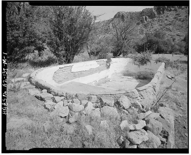 1.  SWIMMING POOL, LOOKING NORTH - Faraway Ranch, Swimming Pool, Willcox, Cochise County, AZ