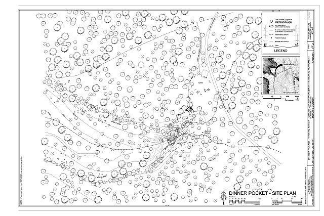 Dinner Pocket - Site Plan - Dinner Pocket, Littlefield, Mohave County, AZ
