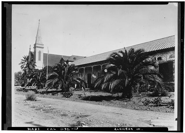 8.  Historic American Buildings Survey San Francisco Chronicle Library Original: 1936 Re-photo: June 1940 WEST ELEVATION - Mission San Jose de Guadalupe, Mission & Washington Boulevards, Fremont, Alameda County, CA
