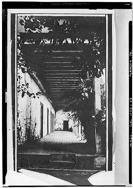14.  Historic American Buildings Survey Photographer, Alexander Stewart Photo taken: About 1928 CONVENTO PORCH LOOKING SOUTH - Mission San Jose de Guadalupe, Mission & Washington Boulevards, Fremont, Alameda County, CA