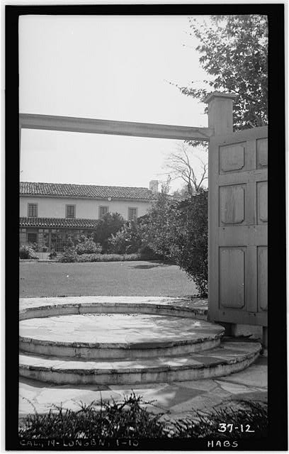 10.  Historic American Buildings Survey, Photographed by Daniel Cathcart, March 8th, 1934. PATIO FRONT FROM WEST WALL - Casa de los Cerritos, 4600 American Avenue, Long Beach, Los Angeles County, CA