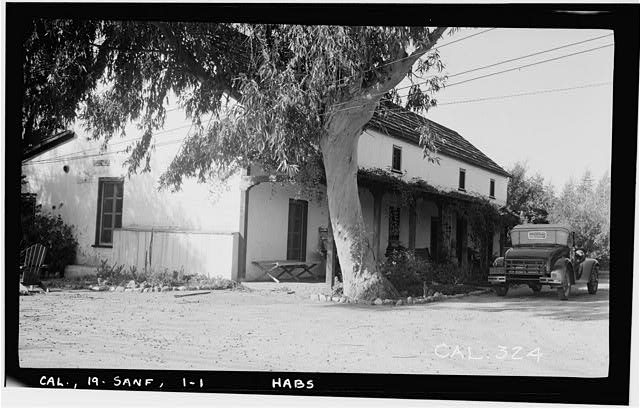 1.  Historic American Buildings Survey Photographed by Henry F. Withey December, 1936 EAST FRONT AND SOUTH SIDE. - Andres Pico House, 10940 Sepulveda Boulevard, San Fernando, Los Angeles County, CA