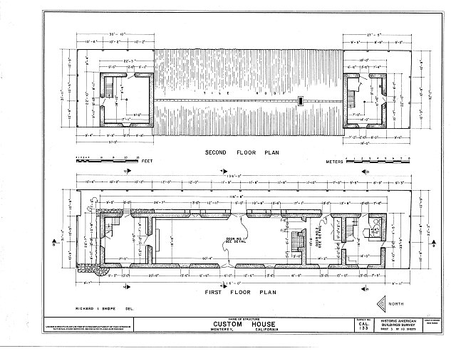 HABS CAL,27-MONT,14- (sheet 3 of 10) - Custom House, Custom House Plaza, Monterey, Monterey County, CA