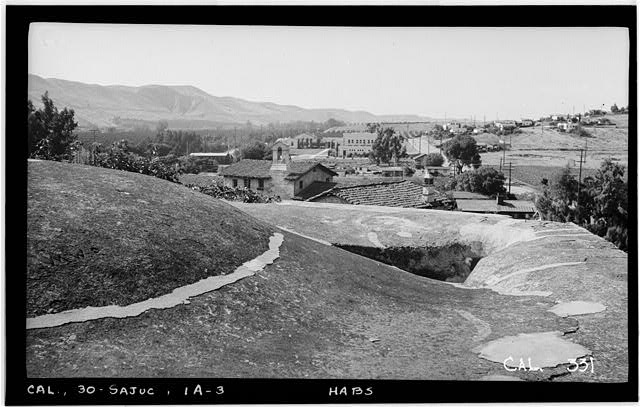 3.  Historic American Buildings Survey Photographed by Henry F. Withey June 1936 STONE CHURCH, ROOF OVER SANCTUARY, LOOKING NORTH. - Mission San Juan Capistrano, Stone Church, Olive Street, between U.S. Highway 101 & Main Street, San Juan Capistrano, Orange County, CA
