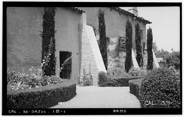 1.  Historic American Buildings Survey Photographed by Henry F. Withey June 1936 EAST FACADE OF SERRA'S CHURCH - Mission San Juan Capistrano, Serra's Church, Olive Street, between U.S. Highway 101 & Main Street, San Juan Capistrano, Orange County, CA