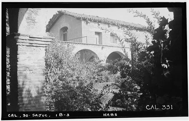 3.  Historic American Buildings Survey Photographed by Henry F. Withey June 1936 EXTERIOR OF SERRA'S CHURCH NORTH-WEST CORNER - Mission San Juan Capistrano, Serra's Church, Olive Street, between U.S. Highway 101 & Main Street, San Juan Capistrano, Orange County, CA
