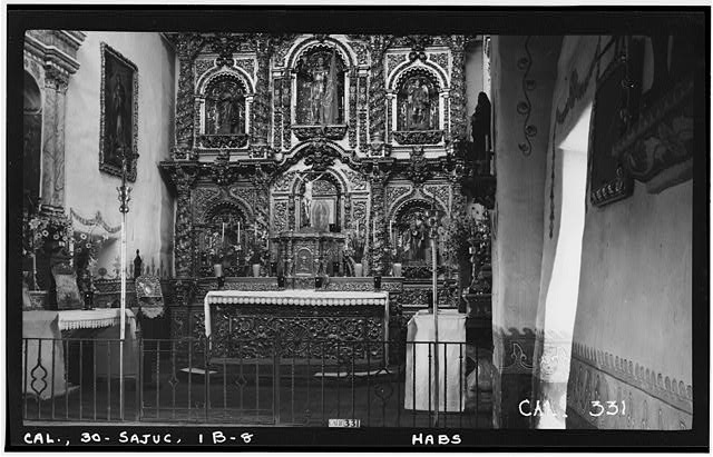 8.  Historic American Buildings Survey Photographed by Henry F. Withey June 1936 SANCTUARY OF SERRA'S CHURCH - Mission San Juan Capistrano, Serra's Church, Olive Street, between U.S. Highway 101 & Main Street, San Juan Capistrano, Orange County, CA