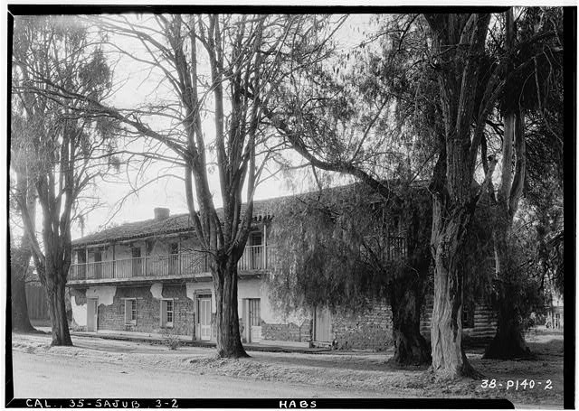 2.  Historic American Buildings Survey Roger Sturtevant, Photographer Feb. 16, 1934 NORTH ELEVATION (FRONT) - General Jose Castro House, Mission Plaza, San Juan Bautista, San Benito County, CA
