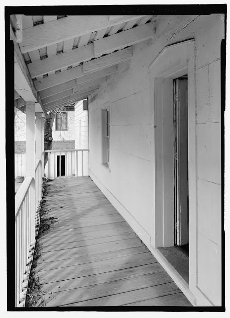 Perspective view from north-east - General Jose Castro House, Mission Plaza, San Juan Bautista, San Benito County, CA