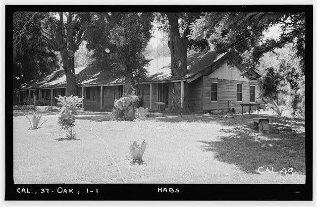 1.  Historic American Buildings Survey Photographed by Henry F. Withey June 1937 VIEW FROM NORTHWEST. - Butterfield Stage Station, Oak Grove, San Diego County, CA