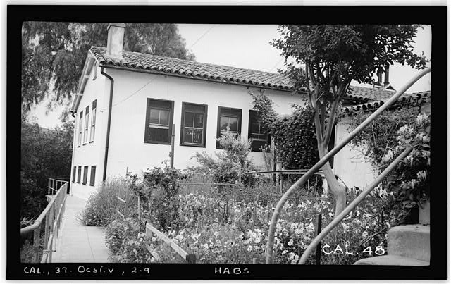 9.  Historic American Buildings Survey Photographed by Henry F. Withey May 1937 N. E. WING FROM N. W. - Casa del Rancho Santa Margarita y Los Flores, U.S. Highway 101, Oceanside, San Diego County, CA