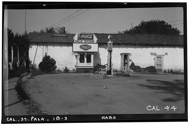 12.  Historic American Buildings Survey Photographed by Henry F. Withey May 1937 LIVING QUARTERS WEST ELEVATION (NORTH HALF) - Asistencia of San Antonio de Pala, Mission Road, Pala, San Diego County, CA