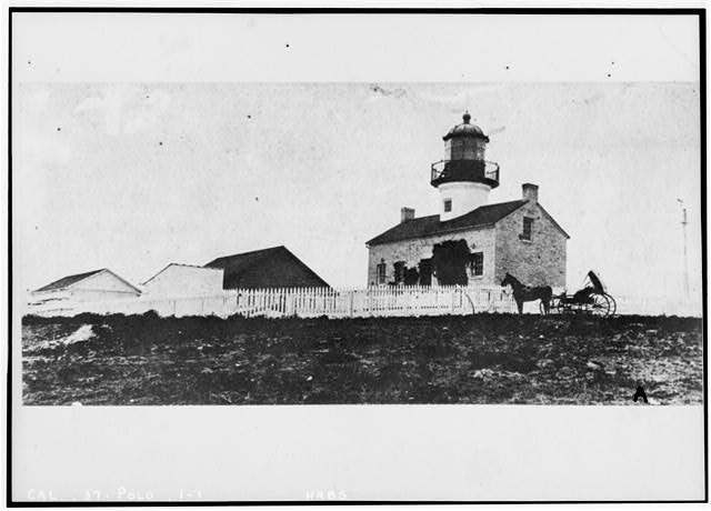 1.  Historic American Buildings Survey (copy) Early Eighties EAST FRONT OF LIGHTHOUSE - Point Loma Lighthouse No. 355, (moved), San Diego, San Diego County, CA