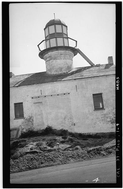 9.  Historic American Buildings Survey H. G. Fowler, Photographer Sept. 12, 1934 REAR ELEVATION, WEST - Point Loma Lighthouse No. 355, (moved), San Diego, San Diego County, CA