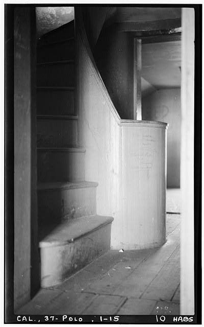 15.  Historic American Buildings Survey H. C. White, Photographer Dec. 6, 1934 SECOND FLOOR, STAIRS TO TOWER ROOM - Point Loma Lighthouse No. 355, (moved), San Diego, San Diego County, CA